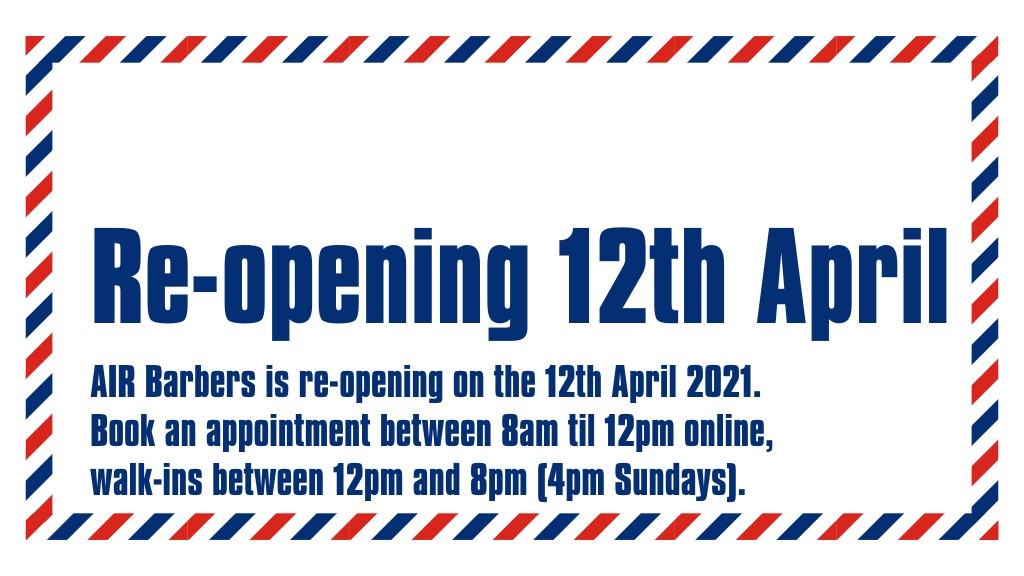 re-opening 12th april